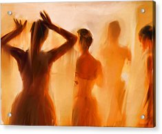 Backstage Acrylic Print by H James Hoff