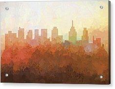 Philadelphia Pennsylvania Skyline Acrylic Print by Marlene Watson