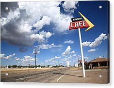 Route 66 Cafe Acrylic Print by Frank Romeo