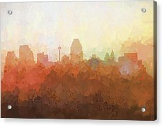 San Antonio Texas Skyline Acrylic Print by Marlene Watson