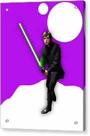 Star Wars Luke Skywalker Collection Acrylic Print by Marvin Blaine
