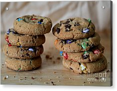 A Balanced Diet Is A Cookie In Each Hand Acrylic Print by Tracy Hall