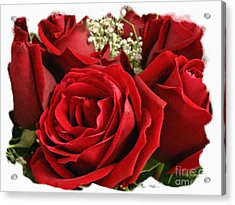 A Bouquet Of Red Roses Acrylic Print by Sue Melvin