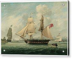 A Brig Entering Liverpool Acrylic Print by John Jenkinson