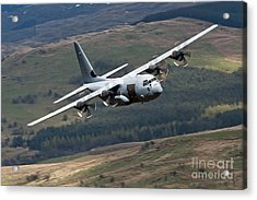 A C-130 Hercules Of The Royal Air Force Acrylic Print by Andrew Chittock