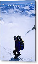 A Climber On The Descent Acrylic Print by Bill Hatcher