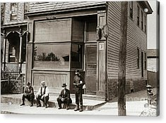 A Coal Miners Bar  George Ave Parsons Pennsylvania Early 1900s Acrylic Print by Arthur Miller