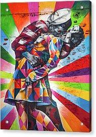 A Colorful Romance Acrylic Print by Az Jackson