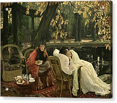 A Convalescent Acrylic Print by James Jacques Joseph Tissot