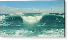 A Cornish Roller Acrylic Print by Celestial Images