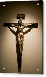 A Crucifix In The Old Saint Francis Acrylic Print by Stephen St. John