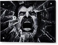 A Cry From The Dark Side Acrylic Print by Piet Flour