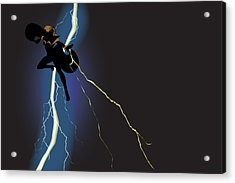 A Dark And Stormy Knight Returns Acrylic Print by Paul T Plale