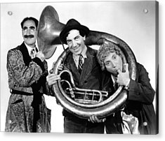A Day At The Races, From Left Groucho Acrylic Print by Everett
