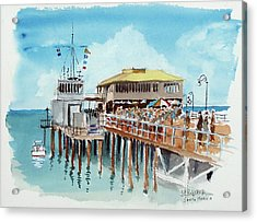 A Day At The Shore Acrylic Print by John Crowther
