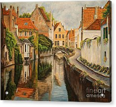A Day In Brugge Acrylic Print by Charlotte Blanchard