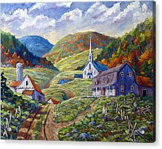 A Day In Our Valley Acrylic Print by Richard T Pranke