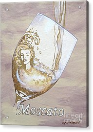 A Day Without Wine - Moscato Acrylic Print by Jennifer  Donald