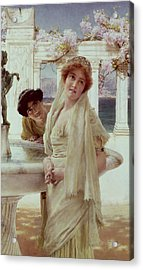 A Difference Of Opinion Acrylic Print by Sir Lawrence Alma-Tadema