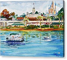 A Disney Sort Of Day Acrylic Print by Laura Bird Miller