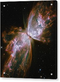 A Dying Star In The Center Acrylic Print by Nasa/Esa