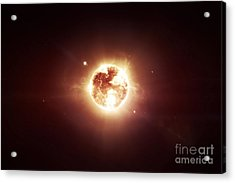 A Dying Star Which Will Soon Give New Acrylic Print by Tomasz Dabrowski