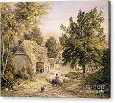 A Farmyard Near Princes Risborough Acrylic Print by Samuel Palmer