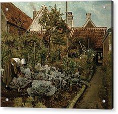 A Flemish Garden Acrylic Print by Henri de Braekeleer