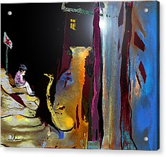 A Friend In The Dark Acrylic Print by Miki De Goodaboom