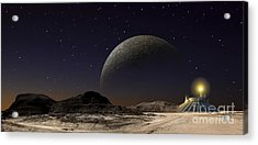 A Futuristic Space Scene Inspired Acrylic Print by Frank Hettick
