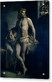 A Gaul And His Daughter Imprisoned In Rome Acrylic Print by Felix-Joseph Barrias