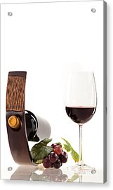 A Glass Of Wine Acrylic Print by Wolfgang Steiner