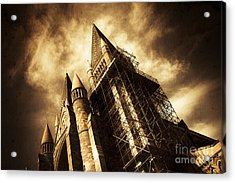 A Gothic Construction Acrylic Print by Jorgo Photography - Wall Art Gallery
