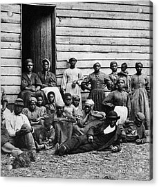 A Group Of Slaves Acrylic Print by Photo Researchers