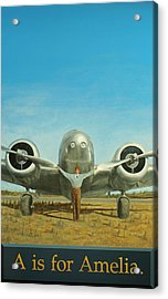 A Is For Amelia Acrylic Print by Laurie Stewart