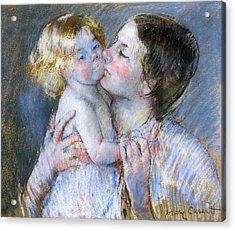 A Kiss For Baby Anne Acrylic Print by Mary Stevenson Cassatt
