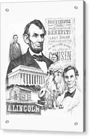 A. Lincoln Acrylic Print by Harry West