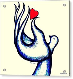 A Little Love Acrylic Print by Paulo Zerbato