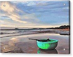 Lone Boat Acrylic Print by Alexandre Ivanov