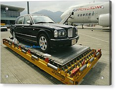A Luxury Bentley Unloaded From An Acrylic Print by Justin Guariglia