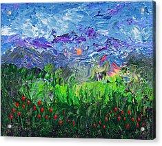 A Meadow For Van Gogh Acrylic Print by Donna Blackhall