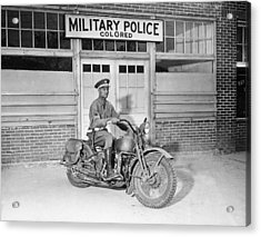 A Military Police Officer Posed Acrylic Print by Everett
