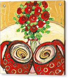 A Morning Toast To Romance Acrylic Print by Jennifer Lommers