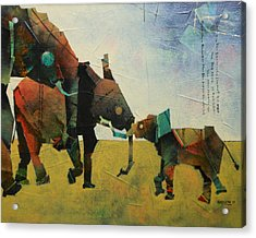 A Mother With Siblings   Acrylic Print by Sharath Palimar