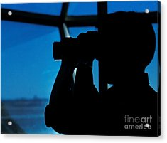 A Navy Air Traffic Controller Maintains Acrylic Print by Michael Wood