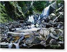 A New Way To The Waterfall  Acrylic Print by Jeff Swan