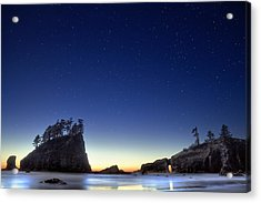 A Night For Stargazing Acrylic Print by William Lee
