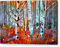 A Party In The Forest Acrylic Print by Tara Turner