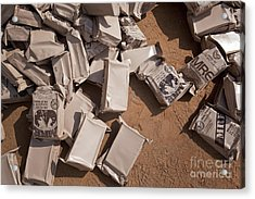 A Pile Of Meals Ready To Eat Lies Acrylic Print by Stocktrek Images