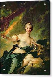 A Portrait Of Anne Josephe Bonnnier De La Mossau  Acrylic Print by Jean Marc Nattier